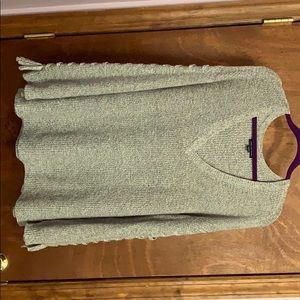 American Eagle Laced Tie-Sleeve V-Neck Sweater